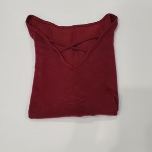 Red Relaxed Cage Top